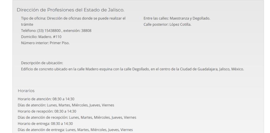 PROFESIONES JALISCO